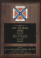 Paul Jon Miller Award, Best Newsletter of the Year