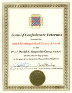 Distinguished Camp for the SCV