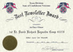 Texas Division Best Newsletter Award