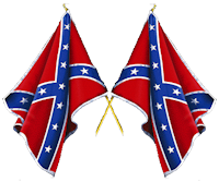 Crossed Confederate Flags