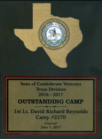 Texas Division Outstanding Camp of the Year for 2017