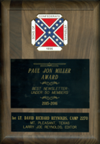 Paul Jon Miller Award, Best Newsletter of the Year Award