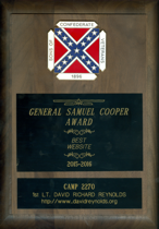 General Samuel Cooper, Best Website of the Year Award